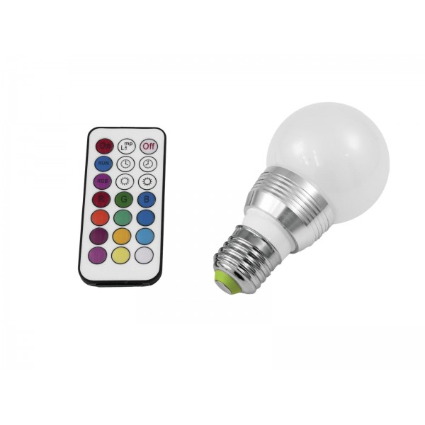 Led 230V 5W E27 multicolor mit Fernbedienung